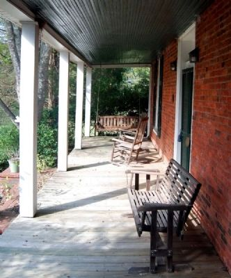 Harbison College President&#39;s Home -<br>Front Porch Looking North image. Click for full size.