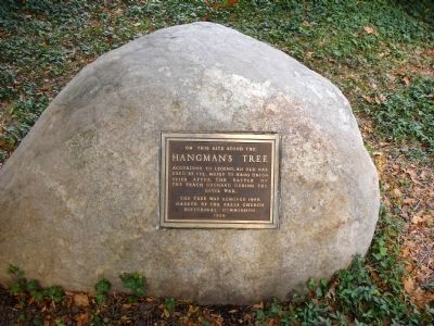 Hangman's Tree Marker image. Click for full size.