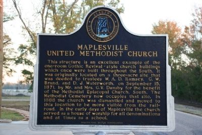 Maplesville United Methodist Church Marker image. Click for full size.