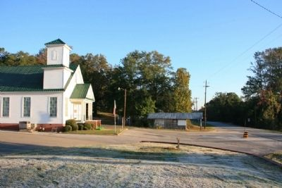 Ebenezer Church and Highway 22 image. Click for full size.
