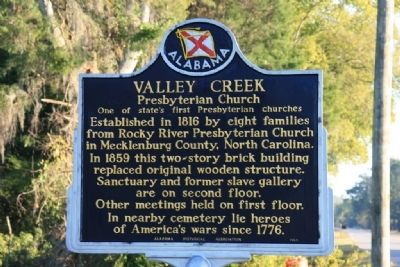 Valley Creek Presbyterian Church Marker image. Click for full size.
