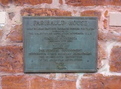 Faribault House <small>D.A.R.</small> Plaque image. Click for full size.