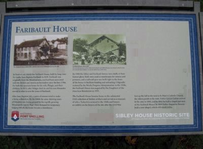 Faribault House Marker image. Click for full size.