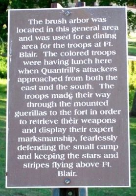 2nd Kansas Colored Infantry at Fort Blair Marker image. Click for full size.
