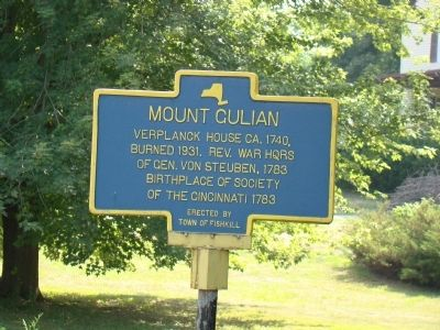 Mount Gulian Marker image. Click for full size.