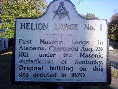 Helion Lodge No. 1 Marker image. Click for full size.