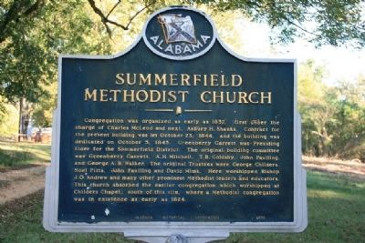 Summerfield Methodist Church Marker image. Click for full size.