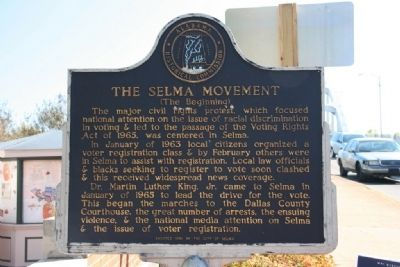 The Selma Movement Marker (The Beginning) image. Click for full size.