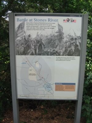 Battle at Stones River Marker image. Click for full size.
