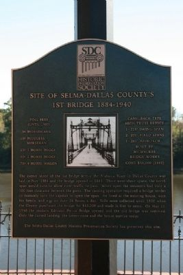 Site of Selma-Dallas County's 1st Bridge 1884-1940 Marker image. Click for full size.