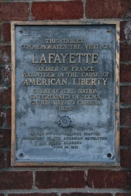 This Tablet Commemorates the Visit of Lafayette Marker image. Click for full size.