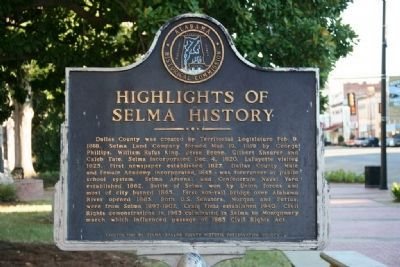 Highlights of Selma History image. Click for full size.