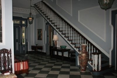 Side Entrance Hall and Stairs image. Click for full size.