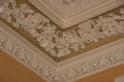 Crown Molding in the Maring Room (Gentleman's Parlor) image. Click for full size.
