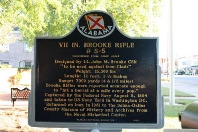 VII In. Brooke Rifle Marker (Side B) image. Click for full size.