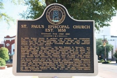 St. Paul's Episcopal Church Est. 1838 Marker (Side B) image. Click for full size.
