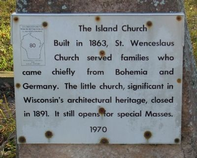 The Island Church Marker image. Click for full size.