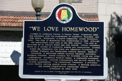 """We Love Homewood"" Marker (Side A) image. Click for full size."