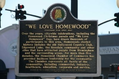"""We Love Homewood"" Marker (Side B) image. Click for full size."
