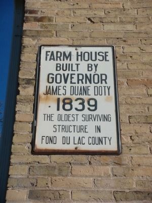 Sign on the Side of the Home of Governor James Duane Doty image. Click for full size.