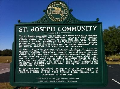 St. Joseph Community Marker image. Click for full size.