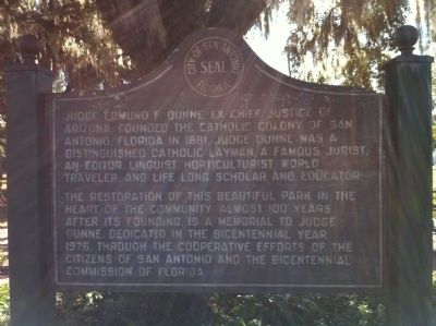 City of San Antonio, Florida Marker image. Click for full size.