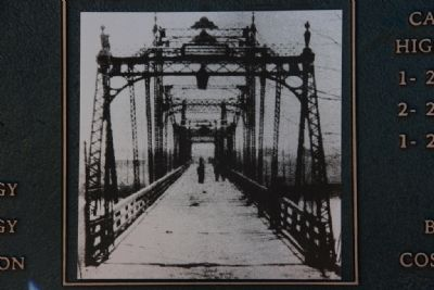Picture On The Marker Showing The Selma-Dallas County's 1st Bridge 1884-1940 Marker image. Click for full size.