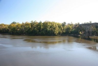 Looking Across The Alabama River From The North Approach Of The Former Bridge. image. Click for full size.