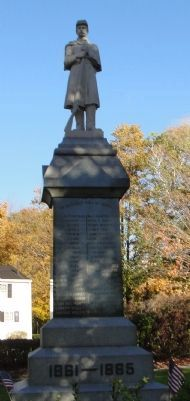 Civil War Monument, South Berwick, Maine image. Click for full size.