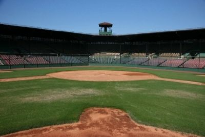 The View From The Pitcher's Mound at Rickwood Field image. Click for full size.