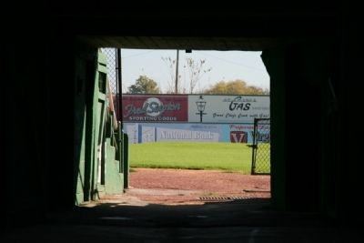 How Many Famous Baseball Players That Have Walked Through This Tunnel at Rickwood Field image. Click for full size.