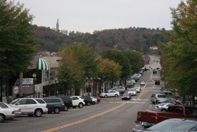 Looking over 18th Street Homewood and Vulcan Statue Stands High Atop Red Mountain image. Click for full size.