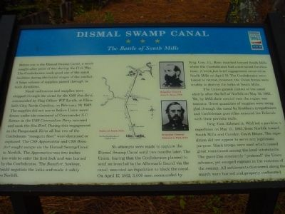 Dismal Swamp Canal Marker image. Click for full size.