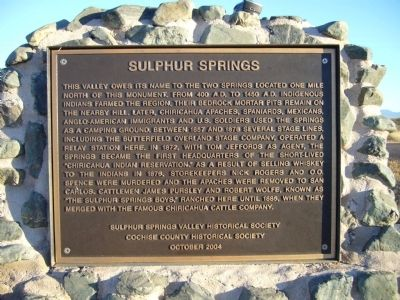 Sulphur Springs Marker image. Click for full size.