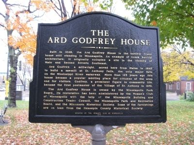 The Ard Godfrey House Marker image. Click for full size.