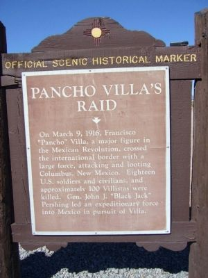 Pancho Villa's Raid Marker image. Click for full size.