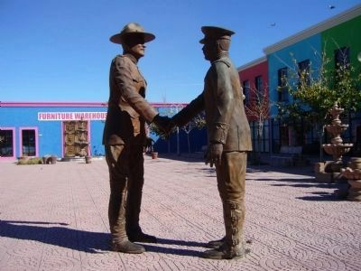 "Gen John J. Pershing and Francisco ""Pancho"" Villa Sculpture. image. Click for full size."