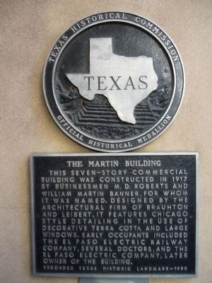 The Martin Building Marker image. Click for full size.