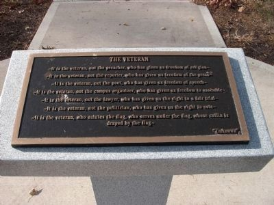 "Bronze Plaque - - ""The Veteran"" image. Click for full size."