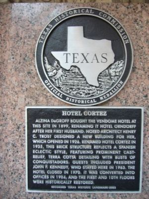 Hotel Cortez Marker image. Click for full size.