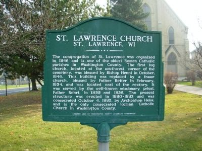 St. Lawrence Church Marker image. Click for full size.