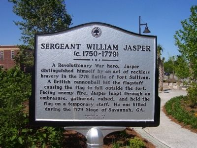 Sergeant William Jasper Marker image. Click for full size.