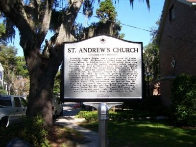 St. Andrews Church Marker - Side A image. Click for full size.