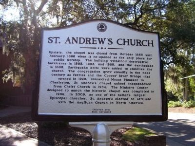 St. Andrews Church Marker - Side B image. Click for full size.