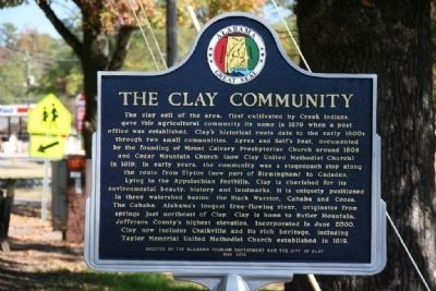 The Clay Community Marker image. Click for full size.