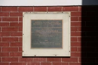 Brown Chapel AME Church Designated A National Historic Landmark 1997 image. Click for full size.