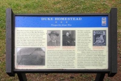 Duke Homestead Marker image. Click for full size.