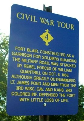 Fort Blair Marker image. Click for full size.