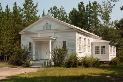 Speedwell Methodist Church seen before gaining its Historical Marker image. Click for full size.