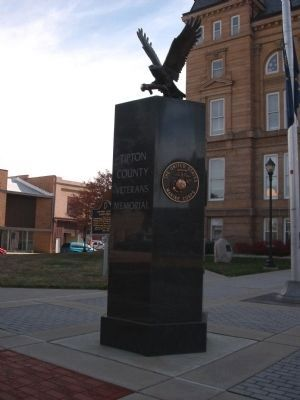 Right View - - Tipton County (Indiana) Veterans Memorial Marker image. Click for full size.